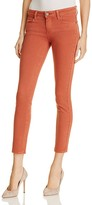Paige Verdugo Skinny Ankle Jeans in Brick Red