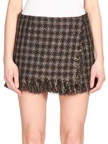 Sonia Rykiel Lamé Tweed Micro-Mini Skirt