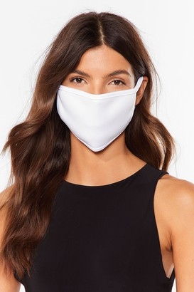 Nasty Gal Womens Not Just a Pretty Fashion Face Mask - White - ONE SIZE, White