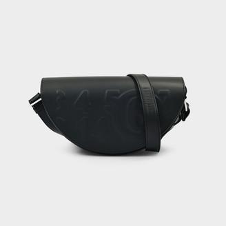 MM6 MAISON MARGIELA Shoulder Bag Demi-Lune In Black Eco Leather