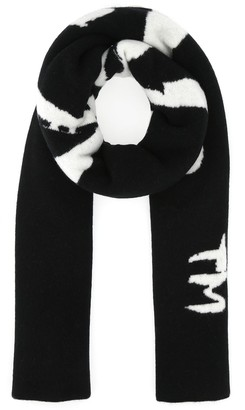 Off-White Logo Knitted Scarf