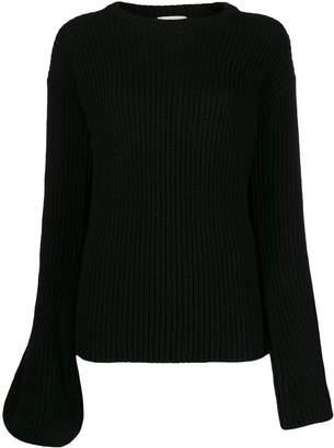 L'Autre Chose asymmetric sleeves jumper