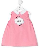 Fendi cloud print smock dress - kids - Cotton/Spandex/Elastane - 12 mth