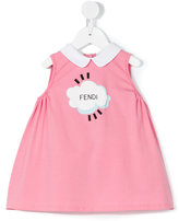 Fendi cloud print smock dress - kids - Cotton/Spandex/Elastane - 3 mth