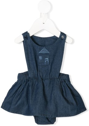 Hygge Knot House denim pinafore