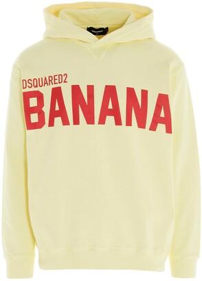 DSQUARED2 Banana Print Hoodie