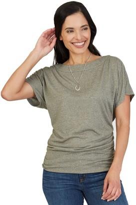 Apt. 9 Women's Ruched-Hem Dolman-Sleeve Top