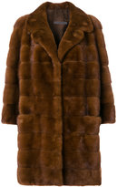 Simonetta Ravizza panelled fur coat