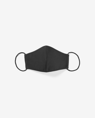 Express Solid Black Face Mask