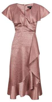 Dorothy Perkins Womens **Billie & Blossom Dusky Pink Ruffle Hem Dress, Pink