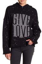 Betsey Johnson Give Love Splattered Hoodie