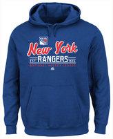 Majestic Men's New York Rangers Intense Defense Hoodie