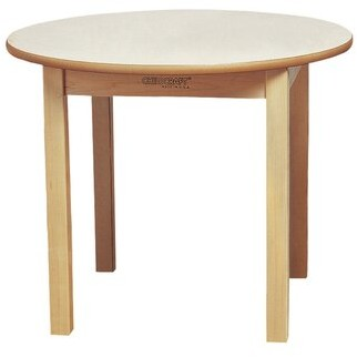 "Child Craft Wood Round Kids Writing Table Childcraft Size: 22"" H x 36"" L x 36"" W"