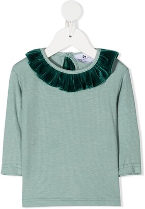 Raspberry Plum Jacqueline ruffle-trim blouse