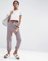 Asos Casual Peg Trousers In Pinstripe