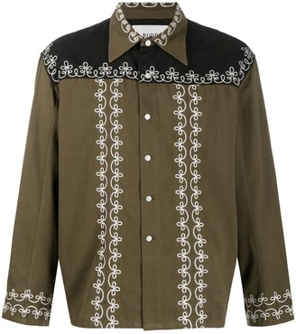 Bode Embroidered Panelled Shirt