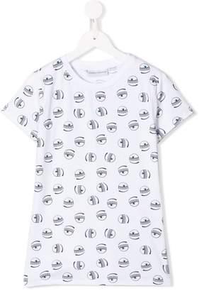 Chiara Ferragni Kids TEEN eye print T-shirt