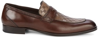 Mezlan 18705 Check Leather Penny Loafers