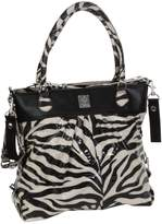 Kalencom The Wild Side Diaper Bag, Tiger Black/Cream