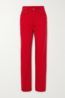 Ksubi Playback High-rise Straight-leg Jeans - Red