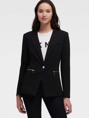 DKNY Blazer With Zipper Detail