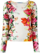Blumarine floral print knitted top