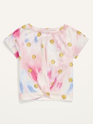 Old Navy Short-Sleeve Twist-Hem Pajama Top for Girls
