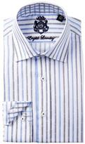 English Laundry Striped Trim Fit Dress Shirt