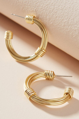 Anthropologie Cameron Hoop Earrings By in Yellow Size ALL