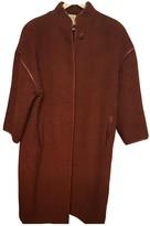 Loewe Burgundy Wool Coats