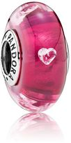 Pandora Cerise Heart Glass Charm