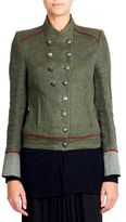 Ann Demeulemeester Collarless Military Jacket