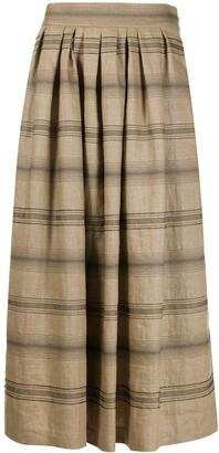 Brunello Cucinelli Striped Midi Skirt