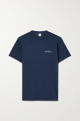 Sporty & Rich Rizzoli Printed Cotton-jersey T-shirt - Navy