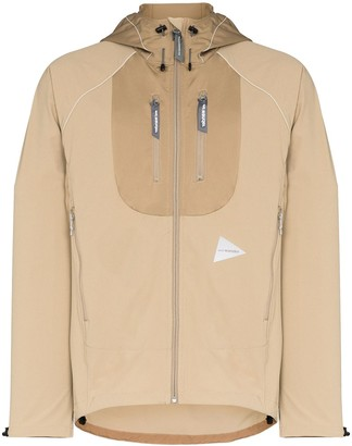 And Wander Hooded Track Jacket