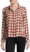 Current/Elliott The Tuck Blouse, Danika Plaid
