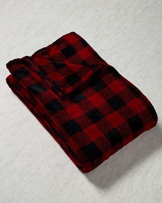 Elite Winter Nights Solid & Print Plush Blanket