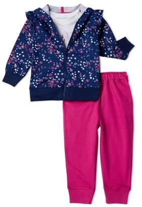 Little Star Organic Baby/Toddler Girls? Organic Hoodie, Top and Leggings, 3-Piece Set
