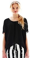 L'amour Nanette Lepore Oversized Fishtail Blouse