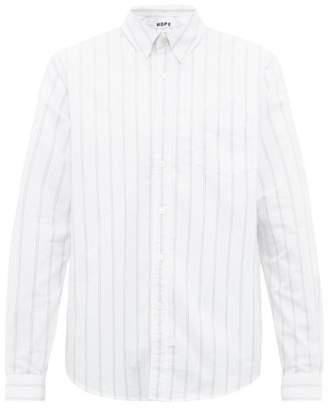 Hope Striped Cotton-oxford Shirt - Mens - White