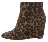 Brian Atwood Ponyhair Wedge Boots