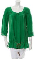 Diane von Furstenberg Silk Drawstring Tunic
