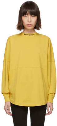 Palm Angels Yellow Logo Long Sleeve T-Shirt