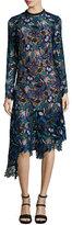 Self-Portrait Self Portrait Elora Floral-Lace Asymmetric Midi Dress