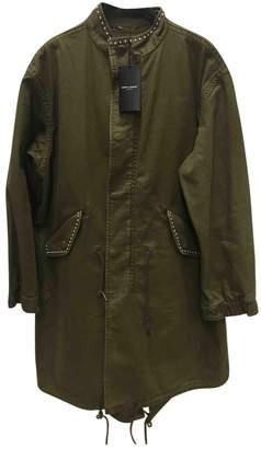 Saint Laurent Green Cotton Jackets