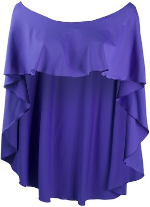Fisico Ruffle Design Cape