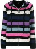 Marc Jacobs striped zip front hoodie