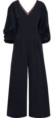 Roksanda Lila Gathered Silk-blend Crepe Wide-leg Jumpsuit