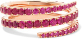 Anita Ko Coil 18-karat Rose Gold Ruby Ring - 7