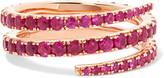 Anita Ko Coil 18-karat Rose Gold Ruby Ring